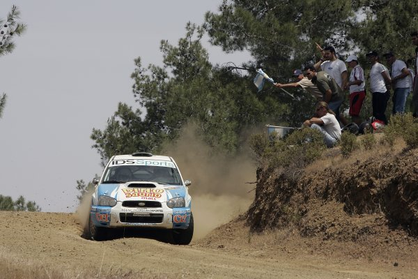 2005 FIA World Rally Champs. Round sixCyprus Rally 12th - 15th May 2005.Marcos Ligato, Subaru PWRC, Action.World Copyright: McKlein/LAT