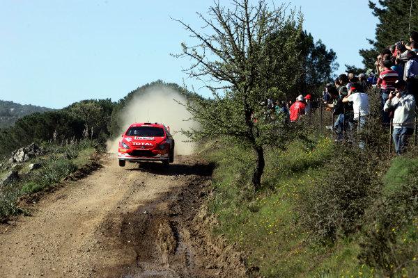 2005 World Rally Championship Rallye d'Italia, Sardinia, Italy. 29th April - 1st May 2005Markko Martin (Peugeot 307 WRC), action.World Copyright: McKlein/LAT Photographic ref: Digital Image Only