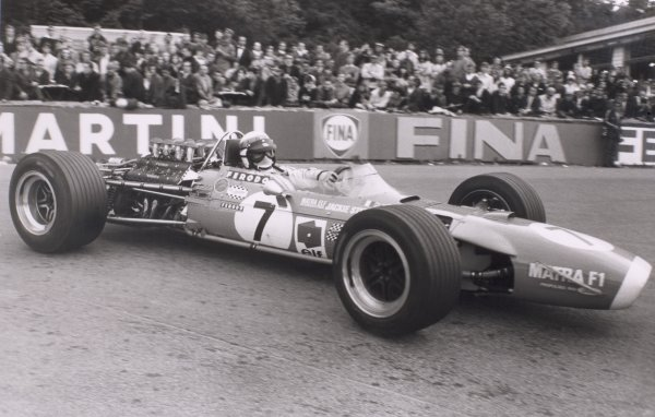 1968 Belgian Grand Prix.Spa-Francorchamps, Belgium. 9 June 1968.Jackie Stewart, Matra MS10-Ford, 4th position, action.World Copyright: LAT PhotographicRef: Motor b&w print
