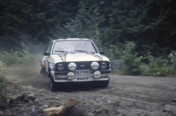 1981 World Rally Championship.1000 Lakes Rally, Finland. 28-30 August 1981.Ari Vatanen/David Richards (Ford Escort RS1800), 1st position.World Copyright: LAT PhotographicRef: 35mm transparency 81RALLY10