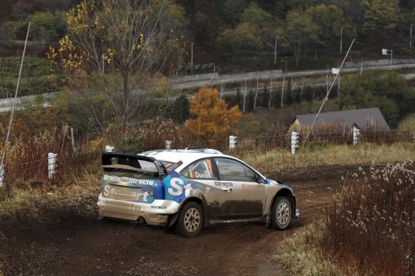 Francois Duval (BEL), Ford Focus WRC, on stage 2.World Rally Championship, Rd14, Rally Japan, Sapporo, Japan, Day One, Friday 31 October 2008.