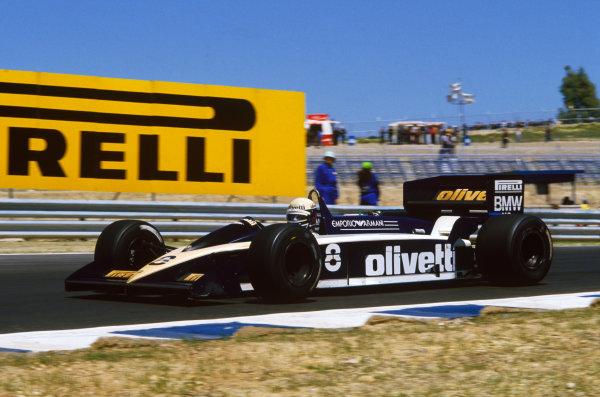 Jerez, Spain. 11-13 April 1986. Elio de Angelis (Brabham BT55 BMW). Ref: 86 ESP 60. World Copyright - LAT Photographic