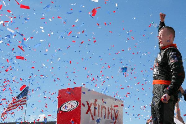 NASCAR XFINITY Series U.S. Cellular 250 Iowa Speedway, Newton, IA USA Saturday 29 July 2017 Ryan Preece, MoHawk Northeast Inc. Toyota Camry celebrates in victory lane  World Copyright: Russell LaBounty LAT Images