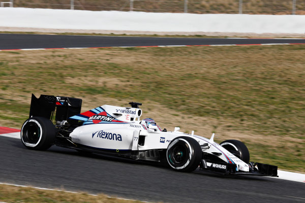 Circuit de Catalunya, Barcelona, Spain Monday 22 February 2016. Valtteri Bottas, Williams FW38 Mercedes. World Copyright: Alastair Staley/LAT Photographic ref: Digital Image _79P9401