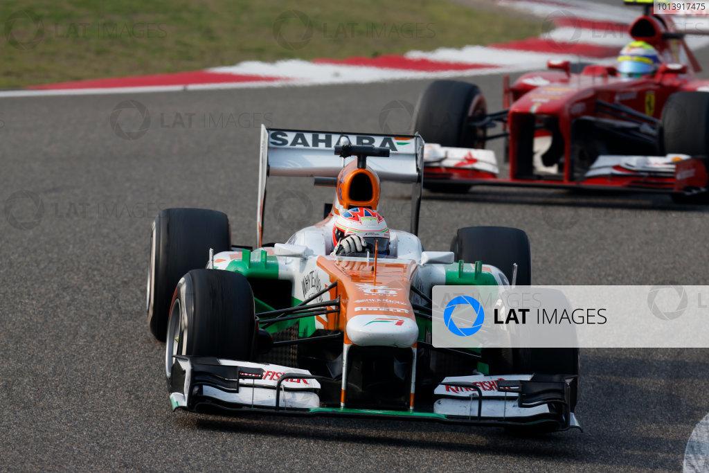 Shanghai International Circuit, Shanghai, China Sunday 14th April 2013 Paul di Resta, Force India VJM06 Mercedes.  World Copyright: Alastair Staley/LAT Photographic ref: Digital Image _R6T2072