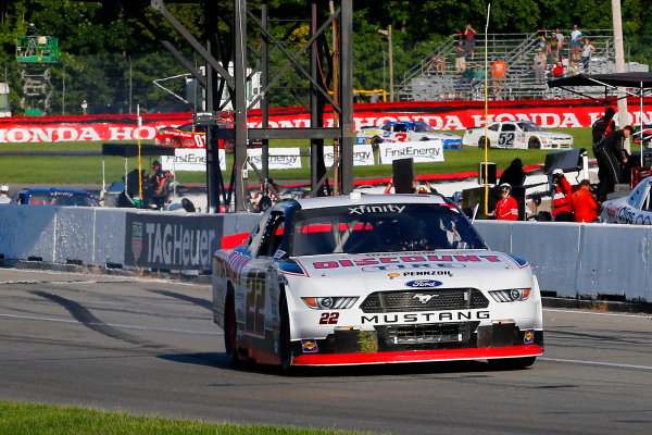 NASCAR XFINITY Series Mid-Ohio Challenge Mid-Ohio Sports Car Course, Lexington, OH USA Saturday 12 August 2017 Sam Hornish Jr, Discount Tire Ford Mustang celebrates his win World Copyright: Russell LaBounty LAT Images