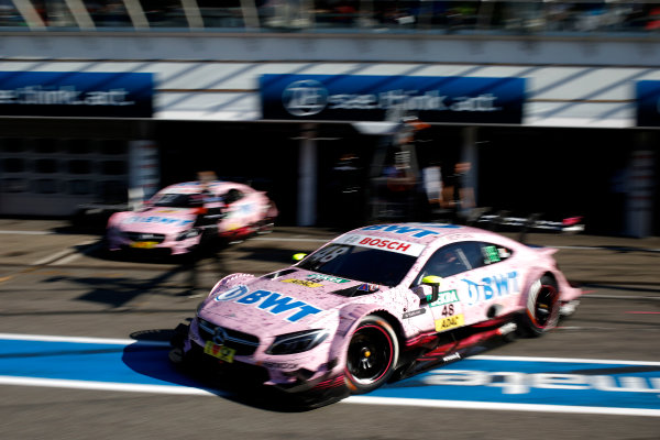 2017 DTM Round 9  Hockenheimring, Germany  Sunday 15 October 2017. Edoardo Mortara, Mercedes-AMG Team HWA, Mercedes-AMG C63 DTM  World Copyright: Alexander Trienitz/LAT Images ref: Digital Image 2017-DTM-HH2-AT1-0535