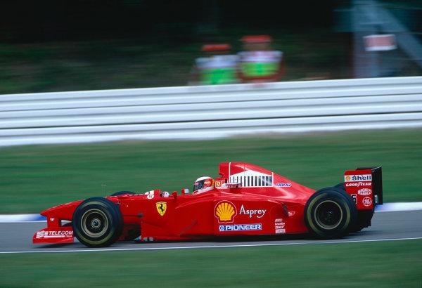 Hockenheim, Germany. 25-27 July 1997.Michael Schumacher (Ferrari F310B).Ref-97 GER 32.World Copyright - Steven Tee/LAT Photographic
