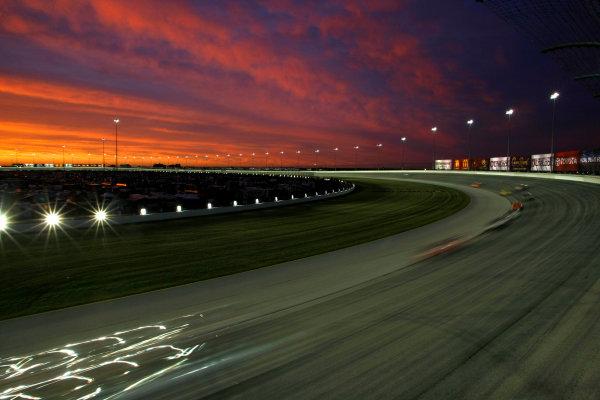10-12 July, 2008, Joliet, Illinois, USA.The sun sets over Chicagoland Speedway.© 2008 Phillip Abbott/USALAT Photographic