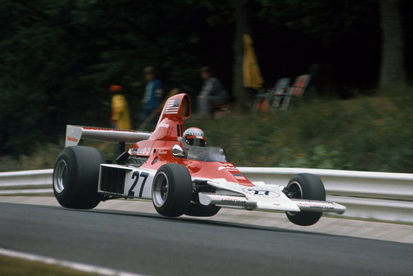 1975 German Grand Prix.  Nurburgring, Germany. 1-3rd August 1975.  Mario Andretti (Parnelli VPJ4 Ford), 10th position, action. Ref: 75GER06. World Copyright - LAT Photographic