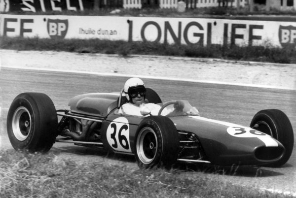 1966 French Grand Prix.Reims, France. 3 July 1966.Bob Anderson, Brabham BT11-Climax, 7th position, action.World Copyright: LAT Photographic