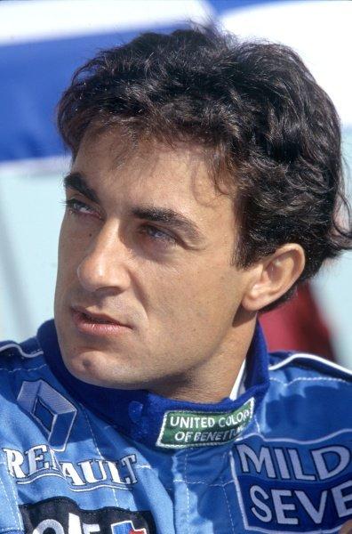 1996 Canadian Grand Prix.Montreal, Canada. 16 June 1996.Jean Alesi, Benetton B196-Renault, 3rd position, portrait.World Copyright: LAT PhotographicRef: 35mm transparency