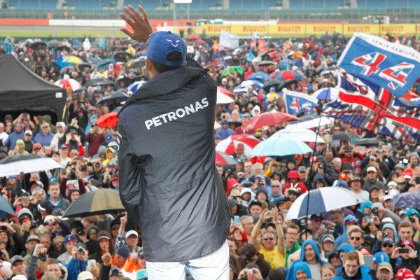 Silverstone, Northamptonshire, UK Sunday 10 July 2016. Lewis Hamilton, Mercedes AMG, at the Grand Prix after party. World Copyright: Jakob Ebrey/LAT Photographic ref: Digital Image Hamilton-16