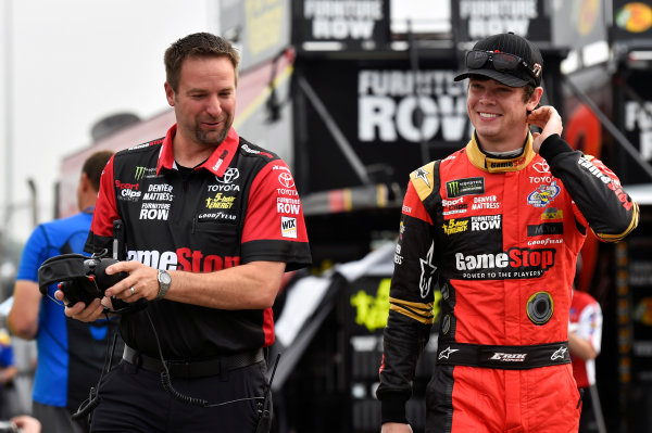 Monster Energy NASCAR Cup Series Toyota Owners 400 Richmond International Raceway, Richmond, VA USA Saturday 29 April 2017 Erik Jones, Furniture Row Racing, GameStop/Prey Toyota Camry and CHris Gayle World Copyright: Nigel Kinrade LAT Images ref: Digital Image 17RIC1nk04800