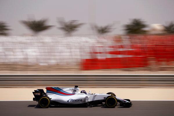 Bahrain International Circuit, Sakhir, Bahrain.  Tuesday 18 April 2017. Lance Stroll, Williams FW40 Mercedes. World Copyright: Glenn Dunbar/LAT Images ref: Digital Image _31I3936