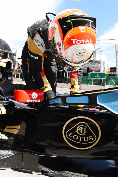 Romain Grosjean (FRA) Lotus E23 Hybrid at Formula One World Championship, Rd1, Australian Grand Prix, Qualifying, Albert Park, Melbourne, Australia, Saturday 14 March 2015.