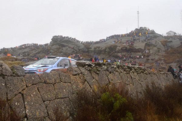 Thierry Neuville (BEL) / Nicolas Gilsoul (BEL) Hyundai i20 WRC. FIA World Rally Championship, Rd5, Rally Argentina, Day Three, Cordoba-Villa Carlos Paz, Argentina, 11 May 2014.