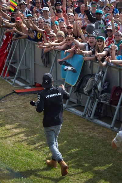 Silverstone Circuit, Northamptonshire, England. Saturday 4 July 2015. Lewis Hamilton, Mercedes AMG. World Copyright: Steve Etherington/LAT Photographic ref: Digital Image SNE18796