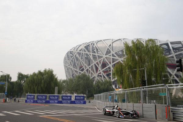 FIA Formula E - First Practice Session Beijing E-Prix, China Saturday 13 September 2014. Oriol Servia (SPA)/Dragon Racing - Spark-Renault SRT_01E  Photo: Glenn Dunbar/LAT/ Formula E ref: Digital Image _89P1486