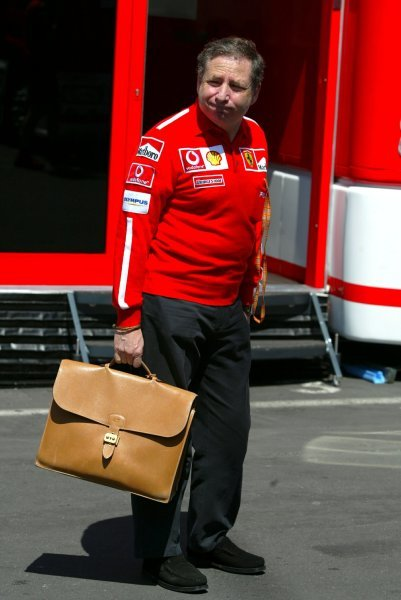 Jean Todt (FRA) Ferrari General Manager in the paddock.