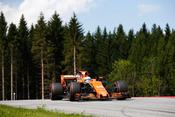 Red Bull Ring, Spielberg, Austria. Friday 7 July 2017. Fernando Alonso, McLaren MCL32 Honda. World Copyright: Andrew Hone/LAT Images ref: Digital Image _ONZ9907