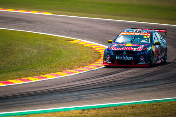 2017 Supercars Championship Round 6.  Darwin Triple Crown, Hidden Valley Raceway, Northern Territory, Australia. Friday June 16th to Sunday June 18th 2017. Jamie Whincup drives the #88 Red Bull Holden Racing Team Holden Commodore VF. World Copyright: Daniel Kalisz/LAT Images Ref: Digital Image 160617_VASCR6_DKIMG_0185.JPG