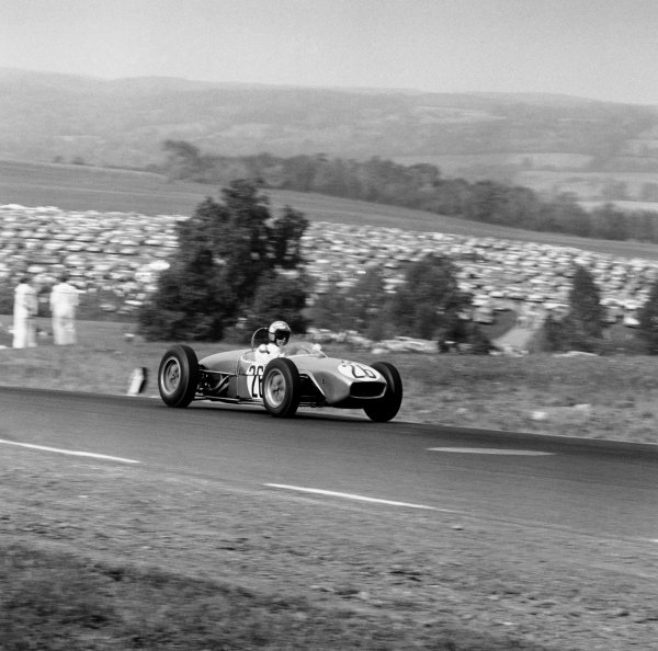 Watkins Glen, USA. 8th October 1961.Lloyd Ruby (Lotus 18-Climax), retired, action. World Copyright: LAT Photographic.Ref:  10969.