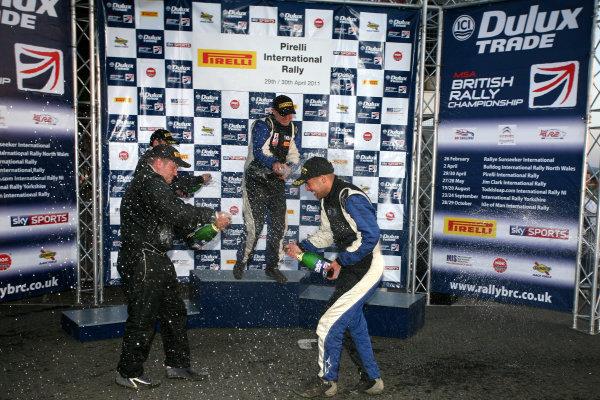 Pirelli International Rally. Carlisle, 30th April 2011.David Bogie/Kevin Rae - Mitsubishi Lancer EVO IX.World Copyright: Ebrey/LAT Photographic.