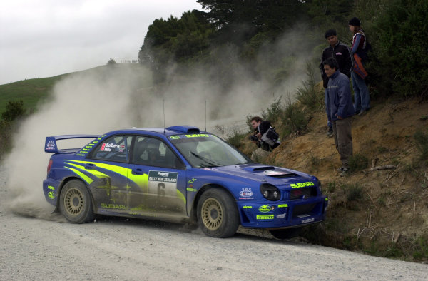 2001 World Rally Championship.Rally of New Zealand. September 20-23, 2001.Auckland, New Zealand.Petter Solberg during shakedown.Photo: Ralph Hardwick/LAT