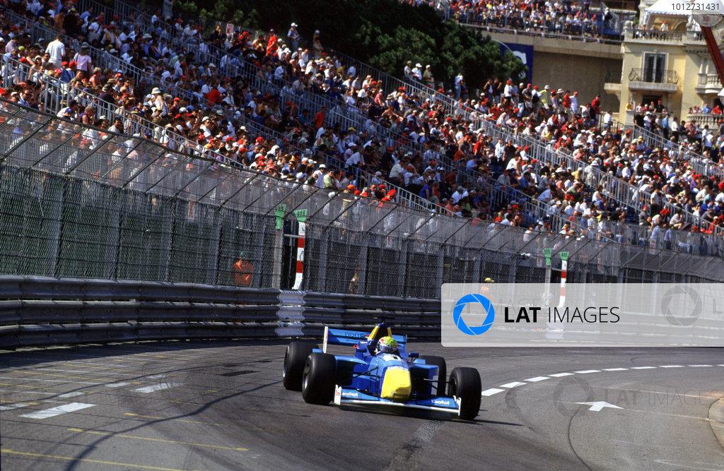 2001 F3000 ChampionshipMonte Carlo, Monaco. 26th May 2001Race winner Mark Webber, Super Nova Racing - action.World Copyright: Clive Rose / LAT Photographicref: 35mm Image A14