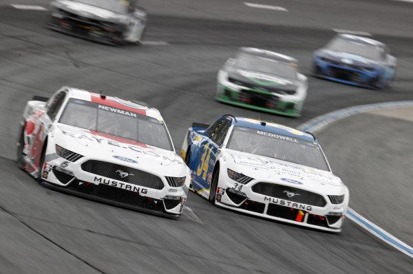 #6: Ryan Newman, Roush Fenway Racing, Ford Mustang Guaranteed Rate, #34: Michael McDowell, Front Row Motorsports, Ford Mustang Horizon Hobby