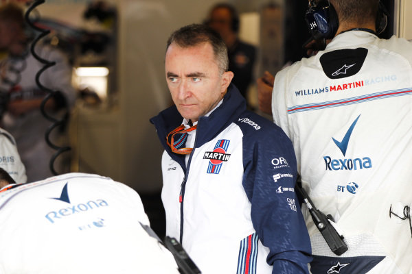 Paddy Lowe, Williams Martini Racing Formula 1.