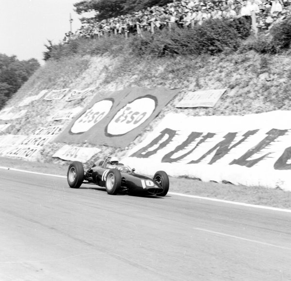 1962 French Grand Prix.Rouen-les-Essarts, France.6-8 July 1962.Richie Ginther (BRM P57) 3rd position.Ref-14520.World Copyright - LAT Photographic