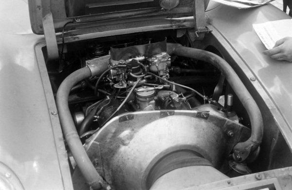 An engine during scrutineering.