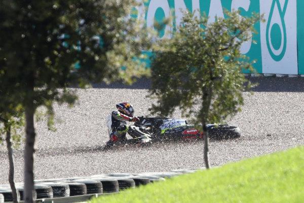 Johann Zarco, Avintia Racing crash.