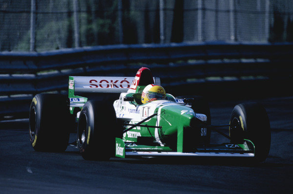 1996 Canadian Grand Prix.Montreal, Quebec, Canada. 14-16 June 1996.Luca Badoer (Forti FG03-96 Ford).Ref-96 CAN 22.World Copyright - LAT Photographic