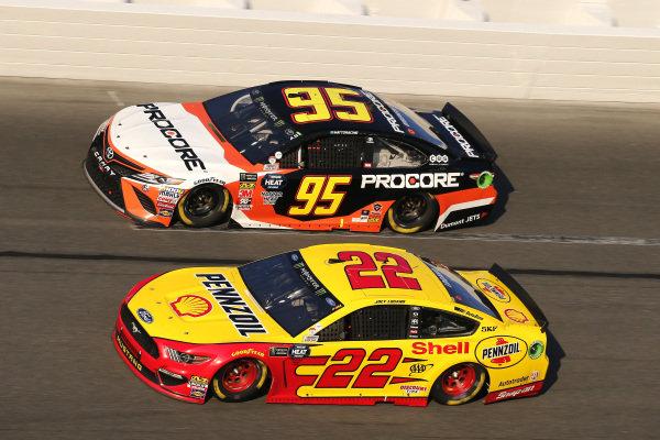 #22: Joey Logano, Team Penske, Ford Mustang Shell Pennzoil and #95: Matt DiBenedetto, Leavine Family Racing, Toyota Camry Procore