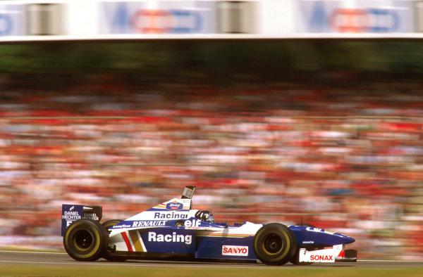 Hockenheim, German.26-28 July 1996.Damon Hill (Williams FW18 Renault) 1st position.Ref-96 GER 08World Copyright - LAT Photographic