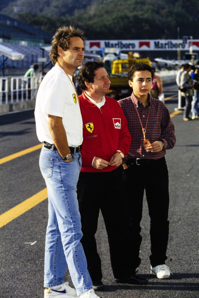 Gerhard Berger, Jean Todt, and his son, Nicolas.