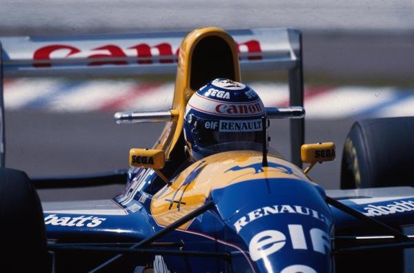 Alain Prost (FRA) Williams FW15C, 1st place.