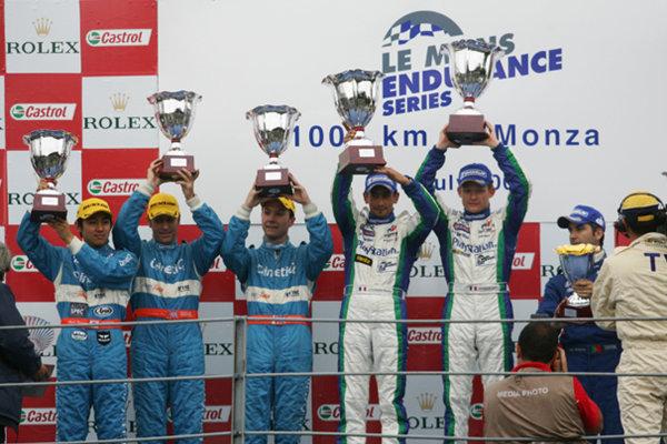 2005 European Le Mans Series,Podium,Monza (I), 10th July 2005,World Copyright: Jakob Ebrey/LAT Photographic