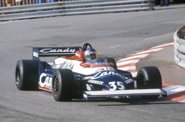 1981 Monaco Grand Prix.Monte Carlo, Monaco. 28-31 May 1981.Brian Henton (Toleman TG181-Hart), did not pre-qualify.World Copyright: LAT PhotographicRef: 35mm transparency 81MON70