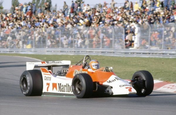 1980 Canadian Grand Prix.Montreal, Canada. 26-28 September 1980.John Watson (McLaren M29C-Ford Cosworth), 4th position.World Copyright: LAT PhotographicRef: 35mm transparency 80CAN25