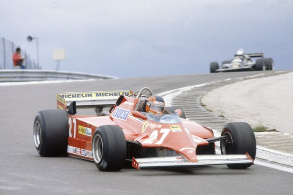 1981 French Grand Prix.Dijon-Prenois, France. 3-5 July 1981.Gilles Villeneuve (Ferrari 126CK), retired.World Copyright: LAT PhotographicRef: 35mm transparency 81FRA03