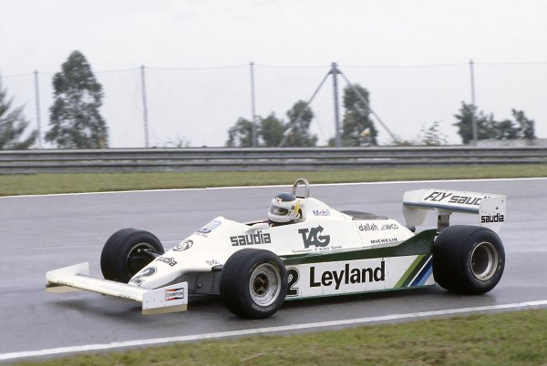 1981 Brazilian Grand Prix.Jacarepagua, Rio de Janeiro, Brazil. 27-29 March 1981.Carlos Reutemann (Williams FW07C-Ford Cosworth), 1st position.World Copyright: LAT PhotographicRef: 35mm transparency 81BRA12