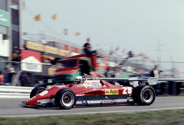 1982 Dutch Grand Prix.Zandvoort, Holland.1-3 July 1982.Didier Pironi (Ferrari 126C2) 1st position.Ref-82 HOL 71.World Copyright - LAT Photographic