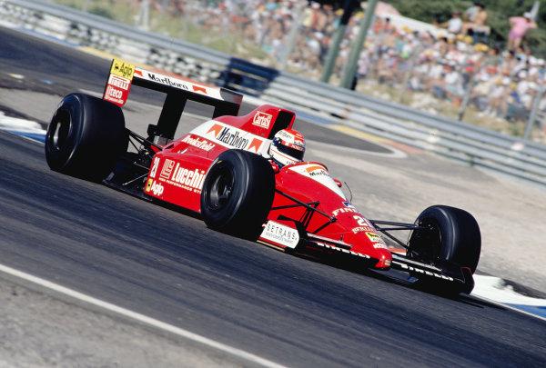 1990 French Grand Prix.Paul Ricard, Le Castellet, France.6-8 Julyh 1990.Emanuele Pirro (Scuderia Italia/Dallara 190 Ford).Ref-90 FRA 25.World Copyright - LAT Photographic