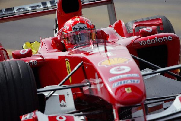 2004 Italian Grand Prix - Friday Practice,Monza, Italy. 10th September 2004 Michael Schumacher, Ferrari F2004, action.World Copyright: Steve Etherington/LAT Photographic ref: Digital Image Only