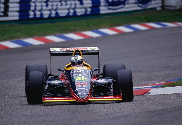 1988 German Grand Prix.Hockenheim, Germany.22-24 July 1988.Yannick Dalmas (Larrousse/Lola LC88 Ford).Ref-88 GER 22.World Copyright - LAT Photographic