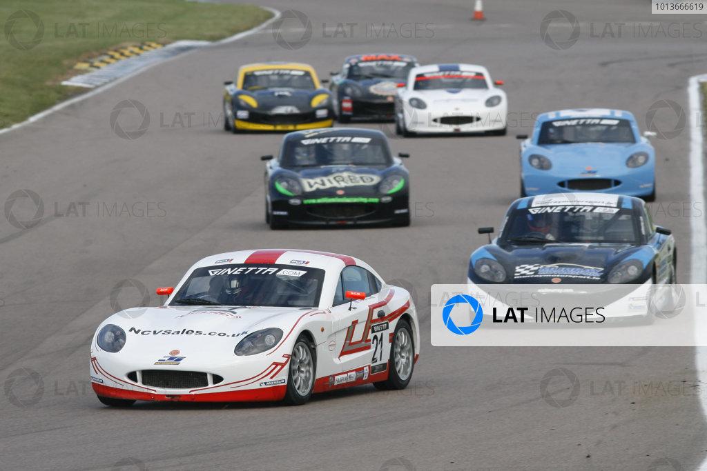 Rockingham, Northamptonshire. 17th - 18th September 2011.George Gamble (GBR) TJ Motorsport Ginetta G40.World Copyright: Ebrey/LAT Photographic.